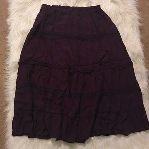 Boho Purple Maxi Skirt